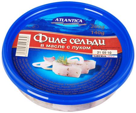Atlantica Heringfilet in Öl mit Zwiebel 200g